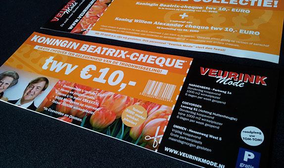Veurink Mode Beatrix cheque